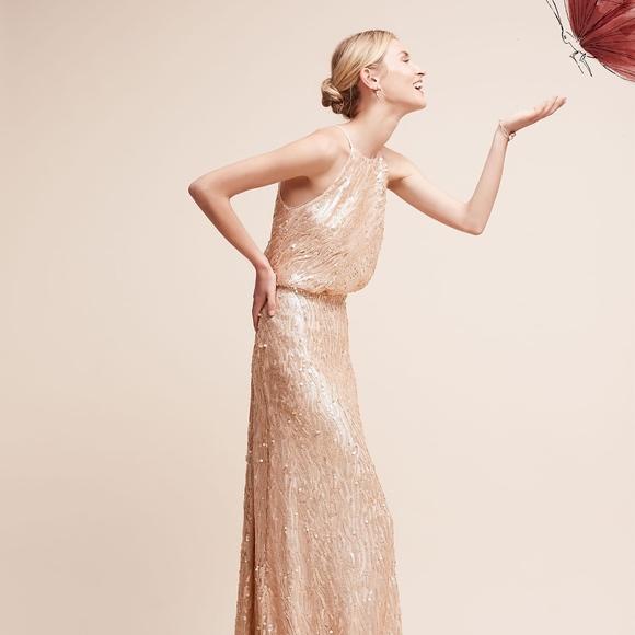 81c82acc Donna Morgan Dresses | Embellished Rose Gold Sequined Alana Dress ...